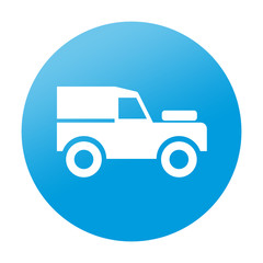 Etiqueta redonda vehiculo todoterreno