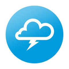 Etiqueta redonda tormenta