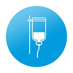 Etiqueta redonda transfusion de sangre