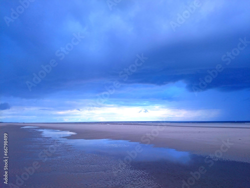 canvas print picture Gewitter am Meer