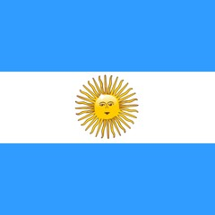 Argentina Flag with Sun of May