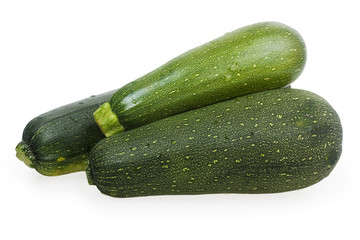 three green zucchini