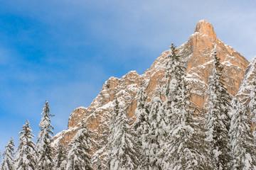 Mountain above Braies in Sudtirol