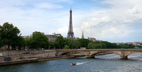 Paris - Eiffel tower and Seine river
