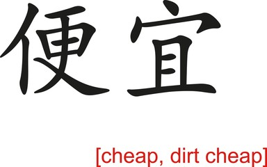 Chinese Sign for cheap, dirt cheap