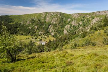 Sommets des montagnes des Vosges