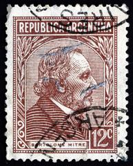 Postage stamp Argentina 1935 Bartolome Mitre, Statesman