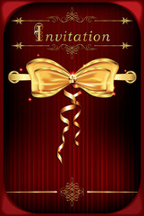 Red celebration invitation background for print (CMYK colors)