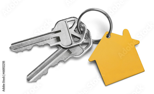 Leinwanddruck Bild Yellow House Keys