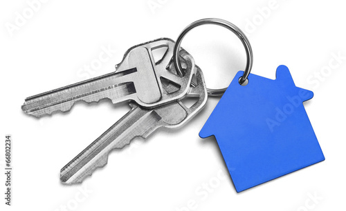 Leinwanddruck Bild Blue House Keys