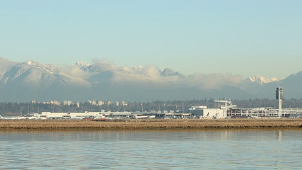 Fraser River, Jet Take Off, Vancouver Airport