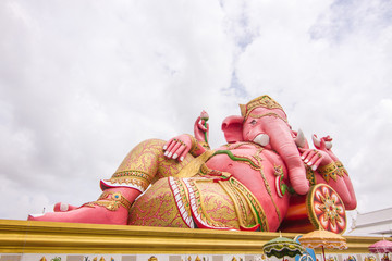 Biggest Ganesha statue in temple,Thailand.