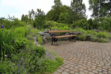 Gestaltung Garten mit Sitzbank
