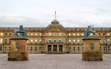 Neues Schloss (New Castle) in Stuttgart, Germany