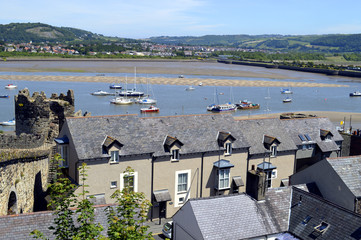 A view of Conwy in North Wales, UK