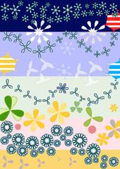 Cometas y flores