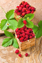 Strawberries in a baskets
