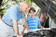 Father Teaching Son Auto Repair