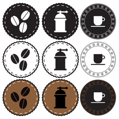 Coffee shop retro badge