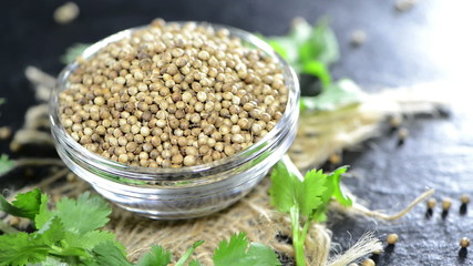 Small portion of Coriander Seeds (loopable HD video)