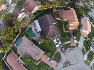 Aerial view of Florida neighborhood
