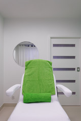 Chair in healthy beauty spa salon. Interior of treatment room