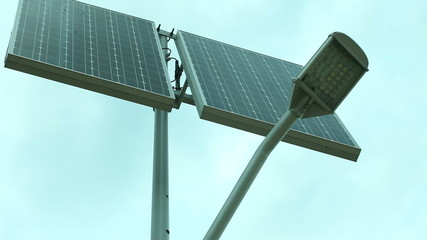 Solar Panel - Stock Footage Full Hd With Motorized Slider. 1080P
