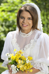 Beautiful Bride, Yellow Bouquet