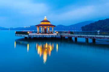 Landscape of Sun Moon Lake in Taiwan