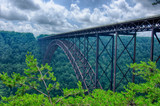 West Virginia's New River Gorge bridge carrying US 19 over the g - 66808041