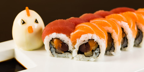 Tuna and Salmon Roll