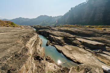 Gorge of Daan River, Taichung, Taiwan
