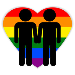 Gay couple symbol