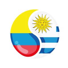 Soccer Colombia vs Uruguay