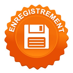 enregistrement sur bouton web denté orange