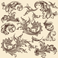 Collection of vector flourishes for design