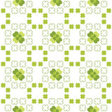 Seamless decorative floral pattern with clover, shamrocks