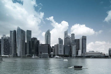 Panorama of Singapore Central Business District