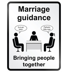 Marriage Guidance Information Sign