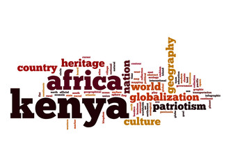 Kenya word cloud