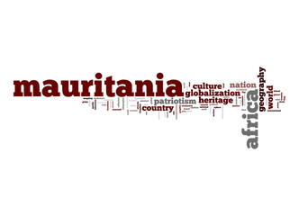 Mauritania word cloud