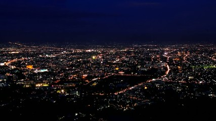 HD Time lapse Chiang Mai city View Evening