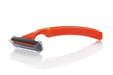 Safety razor isolated on white