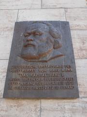 Karl Marz Kapital plaque