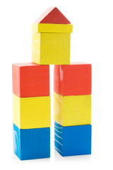 Building from wooden blocks toys