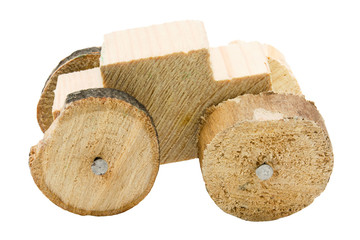 Homemade wooden car toy