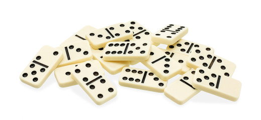 Chaotic heap of dominoes
