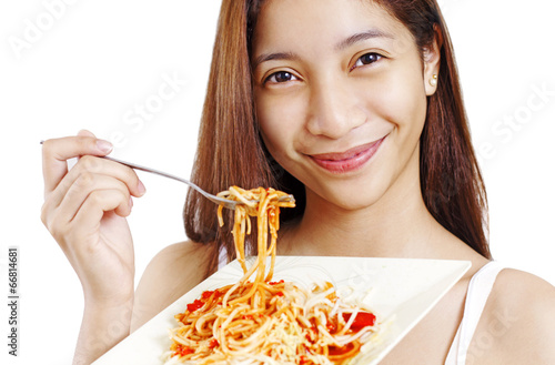 Lady With Spaghetti