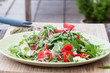 Fresh salad of arugula