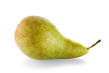 One ripe green pear
